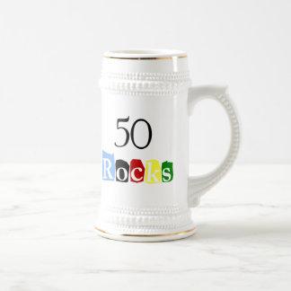 50 Rocks Beer Stein