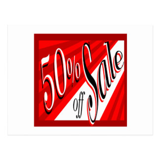 50% Sale Postcard