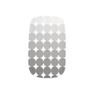 50 Shades of Grey Circles Nail Art Minx® Nail Wraps