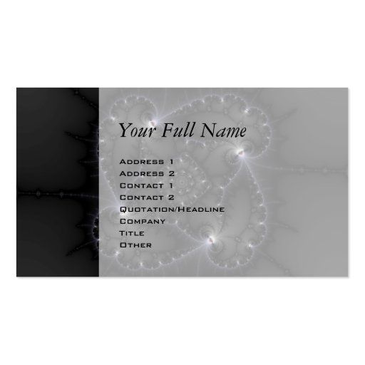 50 Shades Of Grey - Fractal Art Business Card Templates