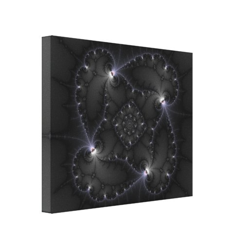 50 Shades Of Grey - Fractal Art Gallery Wrap Canvas