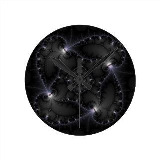 50 Shades Of Grey - Fractal Art Round Clocks