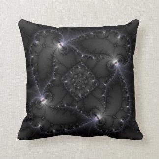 50 Shades Of Grey - Fractal Art Pillow