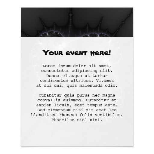 50 Shades Of Grey - Fractal Art Personalized Flyer