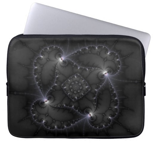 50 Shades Of Grey - Fractal Art Laptop Sleeves