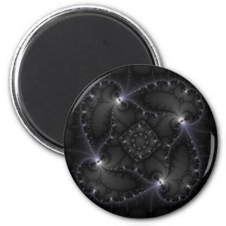 50 Shades Of Grey - Fractal Art Fridge Magnet