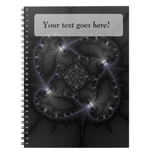 50 Shades Of Grey - Fractal Art Spiral Note Book
