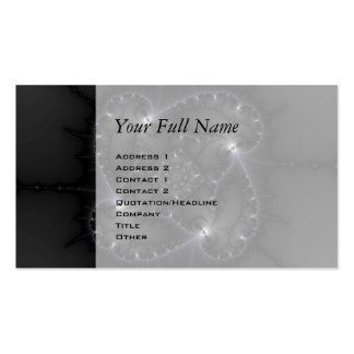 50 Shades Of Grey - Fractal Art Pack Of Standard Business Cards