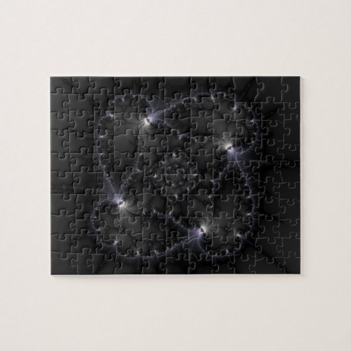 50 Shades Of Grey - Fractal Art Jigsaw Puzzle