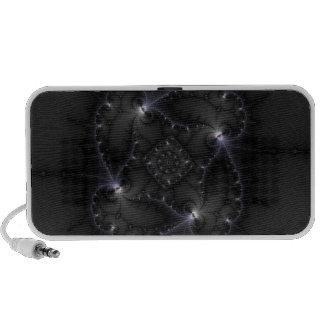 50 Shades Of Grey - Fractal Art Notebook Speakers