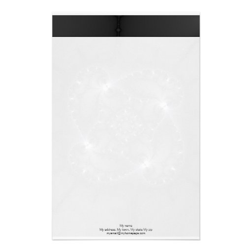 50 Shades Of Grey - Fractal Art Stationery