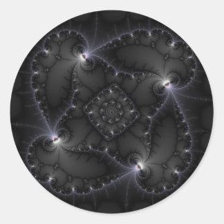 50 Shades Of Grey - Fractal Art Round Sticker
