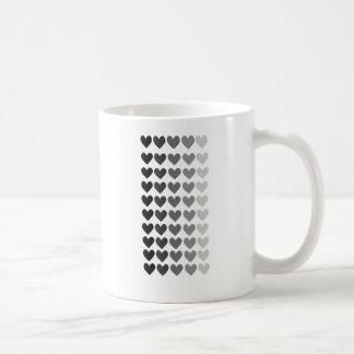 50 Shades Of Grey Heart Shapes Coffee Mug