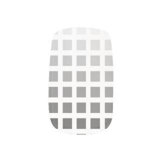 50 Shades of Grey Squares Nail Art Minx® Nail Wraps