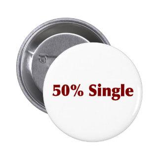50% Single 6 Cm Round Badge