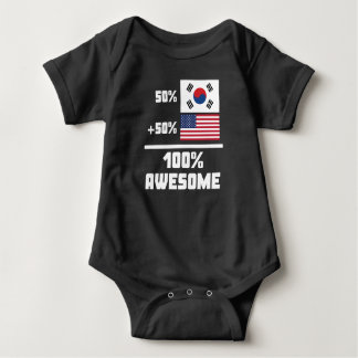 50% South Korean 50% American 100% Awesome Baby Bodysuit