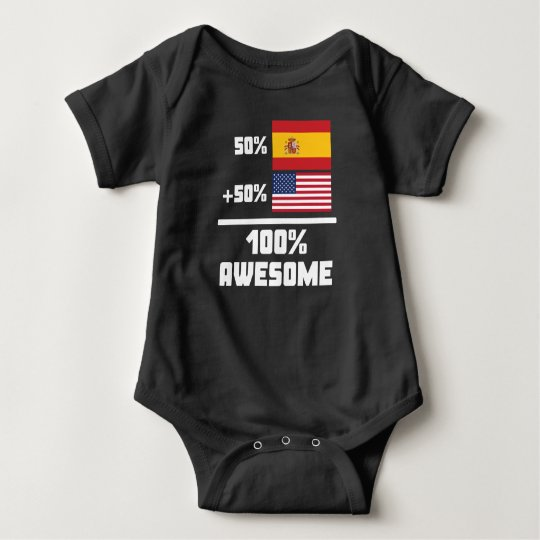 50% Spanish 50% American 100% Awesome Baby Bodysuit