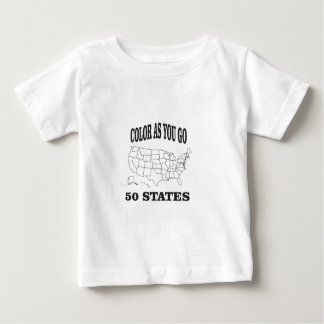 50 states color as you go baby T-Shirt