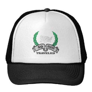 50 states traveled cap