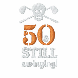 50 Still Swinging - Golf Birthday Shirt Polo