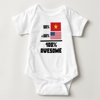 50% Vietnamese 50% American 100% Awesome Baby Bodysuit