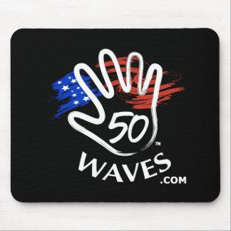 50 Waves Mousepad Black