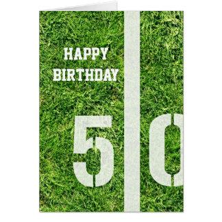 50 Yard Line Card