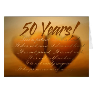 50 Year Anniversary Heart Card