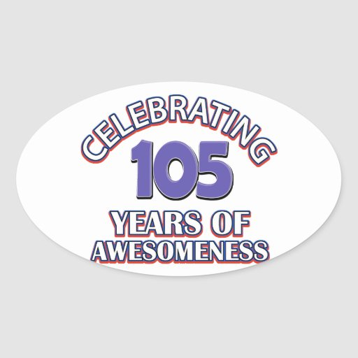 50 year old birthday design oval stickers