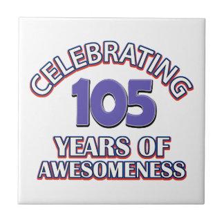 50 year old birthday design tile