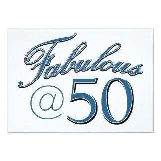 50  year old birthday designs 13 cm x 18 cm invitation card