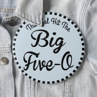 50 Year Old Birthday - Vintage Style 6 Cm Round Badge