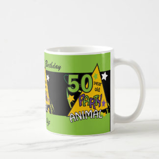 50 Year Old Party Animal | 50th Birthday Basic White Mug
