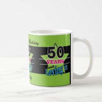 50 Years and Loving It! | 50th Birthday Basic White Mug
