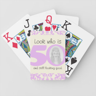 50 years birthday playing card set