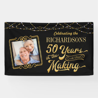 50 Years in the Making Golden Anniversary Banner