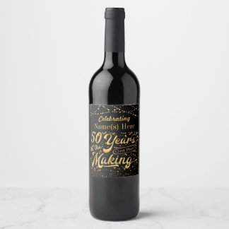 50 Years in the Making Personalized Wine Label
