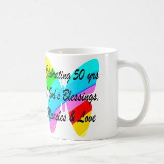 50 YEARS OF BLESSINGS BASIC WHITE MUG