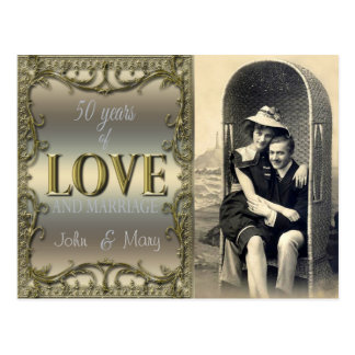 50 Years of Love Postcard