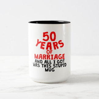 50 Years Of Marriage Two-Tone Coffee Mug