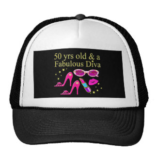 50 YEARS OLD AND A FABULOUS DIVA DESIGN CAP