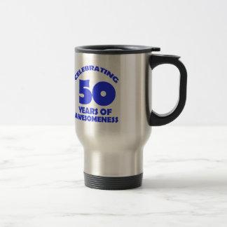 50 years old birthday designs travel mug
