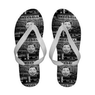 50c Skeeball Ladies Flip Flops