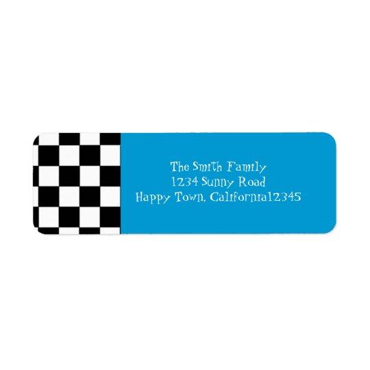 50's Chequered Return Address Label