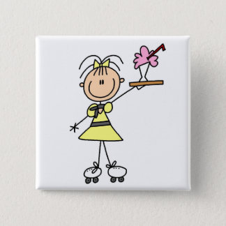 50's Drive-In Waitress T-shirts and Gifts 15 Cm Square Badge