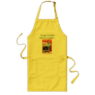 50s housewife, Tough Cookies Don't Crumble... Long Apron