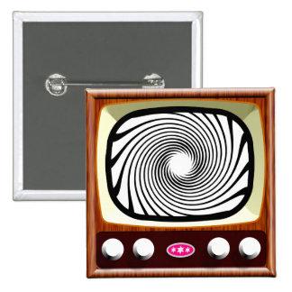 50s Hypno-TV 15 Cm Square Badge