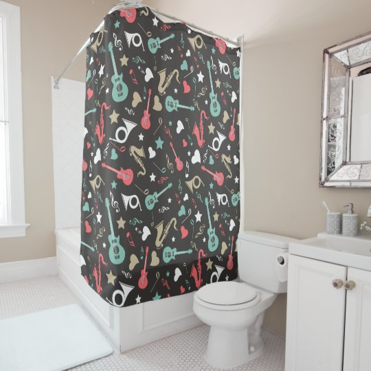 50's Instruments Shower Curtain