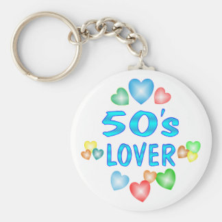 50s Lover Basic Round Button Key Ring