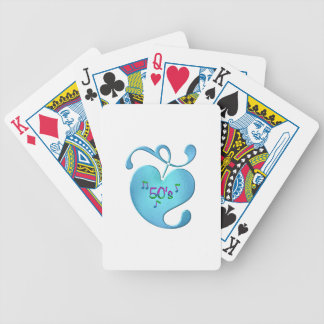 50s Music Love Bicycle Playing Cards